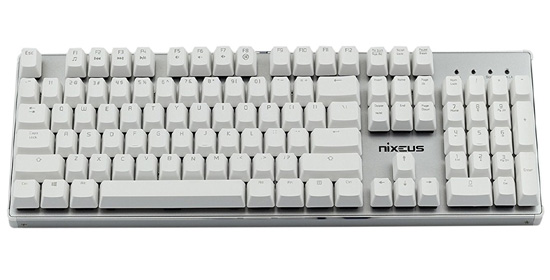Nixeus Moda Pro Mechanical Switch, Soft Tactile Feedback Keyboard - Wireless Mechanical Keyboard
