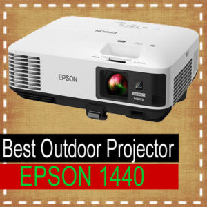 Epson 1440 projector demo - Best outdoor projectors 2018