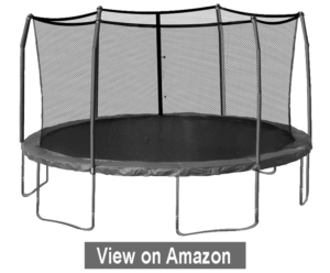 17 x 15-feet Oval Trampoline with Safety Enclosure - Best Trampoline