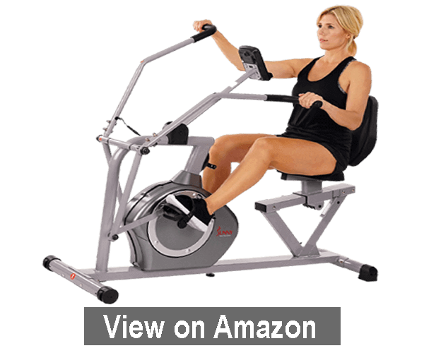 Sunny Health & Fitness Magnetic Recumbent Bike - best recumbent exercise bike 2020