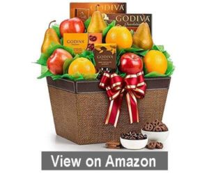 Fresh fruit and chocolate basket (1)
