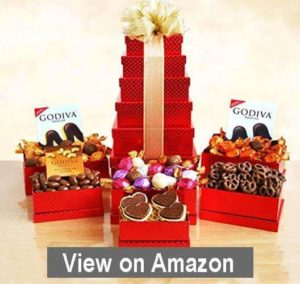 Godiva Chocolate Decadence Christmas Gift Tower