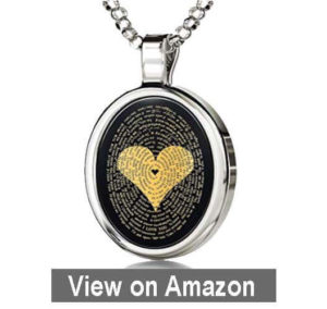 Love Necklace Inscribed with I Love You