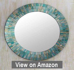 NOVICA MI0033 Aqua Fantasy Mosaic Glass Mirror