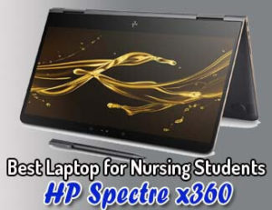 best laptops for nursing students 2020 - HP Spectre x360