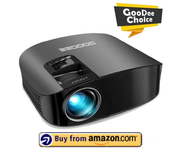 GooDee HD Video Projector 3800L - Best Outdoor Movie Projector 2020