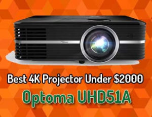 Optoma UHD51A - 4K UHD Smart Home Theater Projector 2020