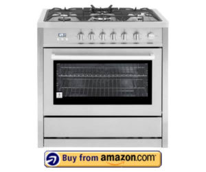 Cosmo 36 in. 3.8 cu. ft. Gas Range with Convection Oven