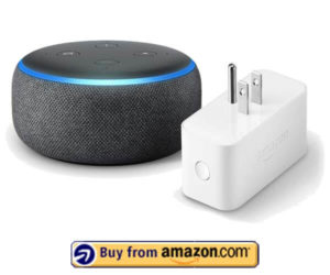 Echo Dot (3rd Gen) bundle with Amazon Smart Plug - Charcoa