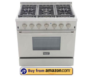 Kucht KRG3618U-S Professional 36 5.2 cu. ft. Natural Gas Range
