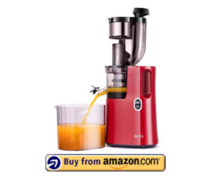 SKG Q8 Wide Chute Slow Masticating Juicer - Red