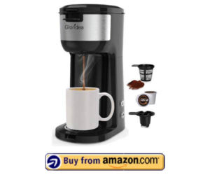 Single Serve Coffee Maker for K Cup Pod and Ground Coffee