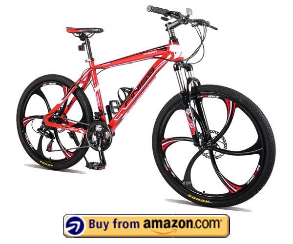 Merax Finish 26 Aluminum 21 Speed Mg Alloy Wheel Mountain Bike