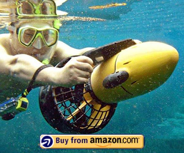 Sea Scooter Underwater Propeller Diving Equipment with Battery by DEPTH RATING