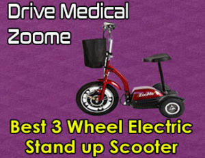 Drive Medical Zoome Scooter - Best 3 Wheel Electric Stand up Scooter 2020