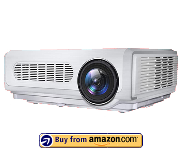 Gzunelic 7000 lumens Native 1080p LED Video Projector