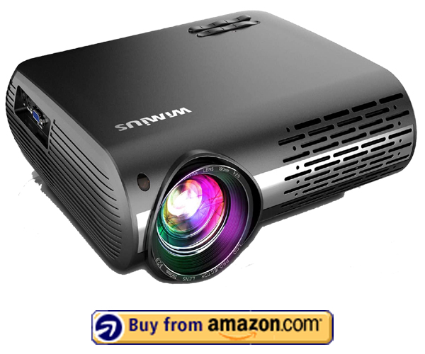 WiMiUS Newest P20 - Best Native 1080p Projector Under $400 2021
