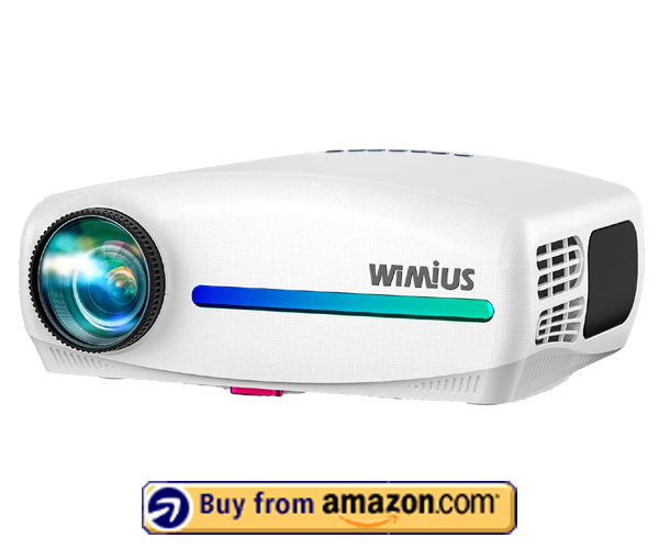 WiMiUS Upgrade S1 - Best Home & Outdoor Movie Projector 2021
